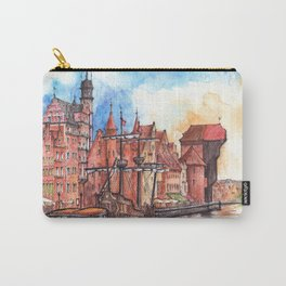 Gdansk watercolor illustration Carry-All Pouch