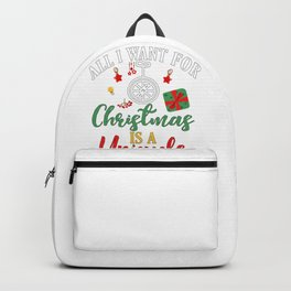 Unicyclist All I Want for Christmas is a Unicycle Backpack