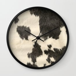 Black & White Cow Hide Wall Clock