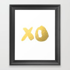 XO gold Framed Art Print