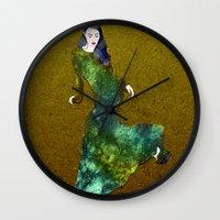 dress Wall Clocks featuring Favorite Dress by Stevyn Llewellyn