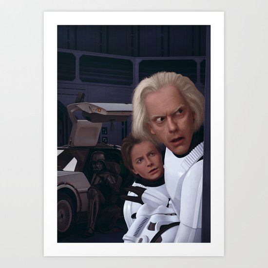 I Find Your Lack Of Jiggawatts Disturbing Art Print