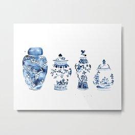 Ginger Jar Collection print Metal Print
