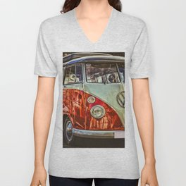 Vintage 21-window classic in red wall art - photograph Unisex V-Neck