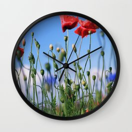 poppy flower no10 Wall Clock