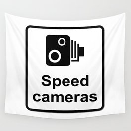 Speed Cameras Sign Wall Tapestry
