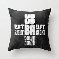 code Throw Pillows featuring Gamer's Code by Jango Snow