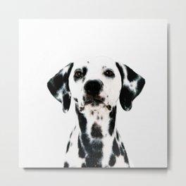 Dalmatian dog watercolour Metal Print