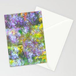Impressionate Wisteria painting Stationery Cards