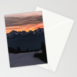 Rising Sun in the Cascades - nature photography Stationery Cards