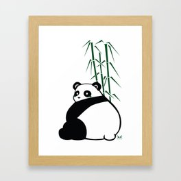 Big Butt Panda Framed Art Print