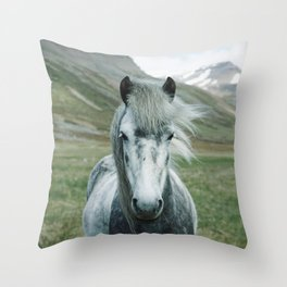 horse by Oscar Nilsson Throw Pillow