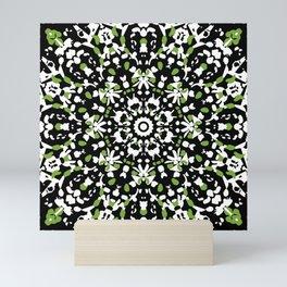 Rose window in green Mini Art Print