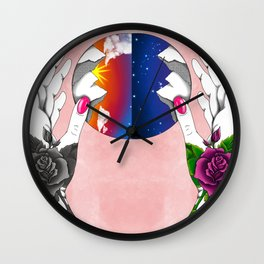 Time in Hand Wall Clock