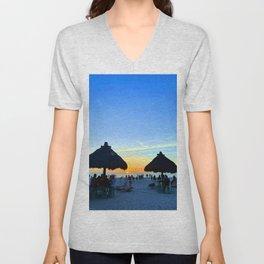 Bradenton Florida Sunset Unisex V-Neck