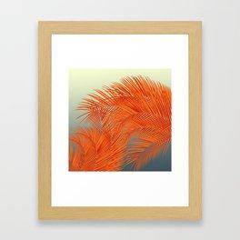 Palm Leaves, Orange Framed Art Print