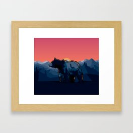 Mother Bear & Cub Framed Art Print