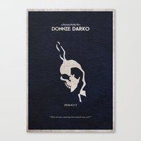 donnie darko Canvas Prints featuring Donnie Darko by Ayse Deniz