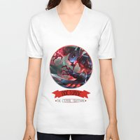 league of legends V-neck T-shirts featuring League Of Legends - Nocturne by TheDrawingDuo