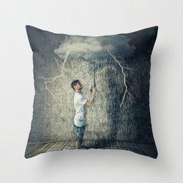 umbrella cloud Throw Pillow