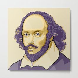 Shakespeare - royal purple and yellow Metal Print