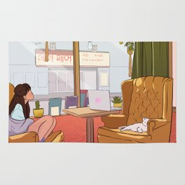Cat Cafe Rug