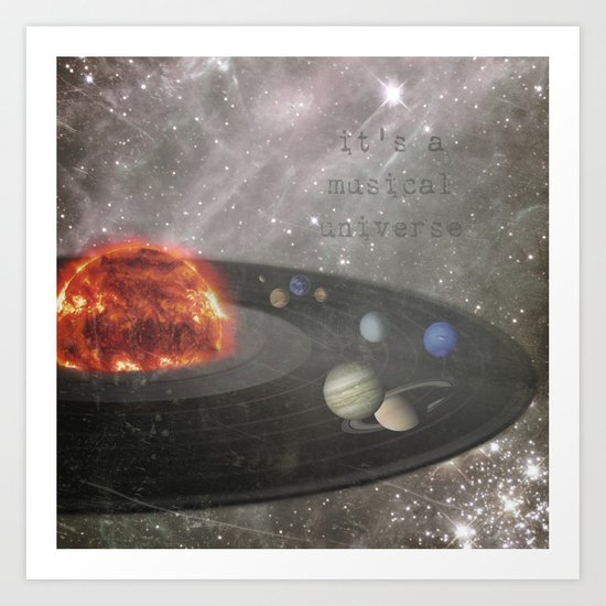 The Musical Universe Art Print