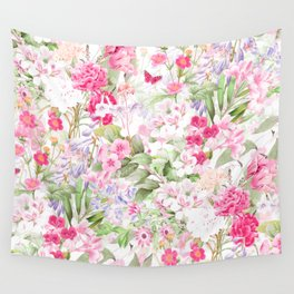 Vintage & Shabby Chic - Pastel Spring Flower Medow Wall Tapestry
