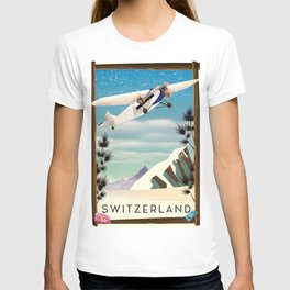 Switzerland travel poster T-shirt