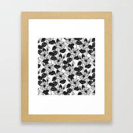 Hibiscus garden Framed Art Print