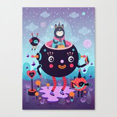 Amigos cósmicos Canvas Print