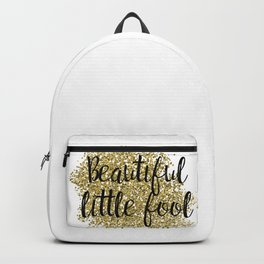 Beautiful little fool - golden jazz Backpack