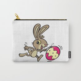 Easter bunny and rolling Easter egg Carry-All Pouch