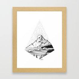 Set waves Framed Art Print