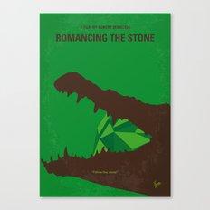 No732 My Romancing the Stone minimal movie poster Canvas Print
