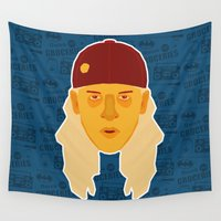 jay fleck Wall Tapestries featuring Jay - Clerks by Kuki