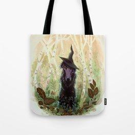 Black Magic Borzoi Tote Bag