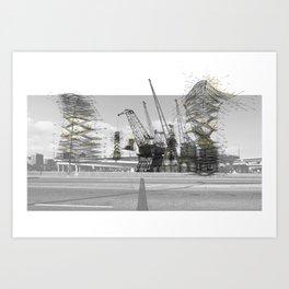 Cha-Cha-Chia Fields Art Print
