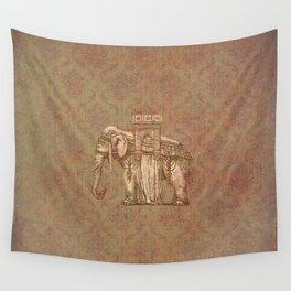 Vintage Elephant Bastille Monument Engraving Wall Tapestry