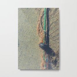 Fishnet with buoy on rope Metal Print