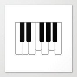 Piano keys. Playing Piano #society6 #decor #buyart #artprint Canvas Print