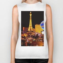 Las Vegas Night Skyline Biker Tank