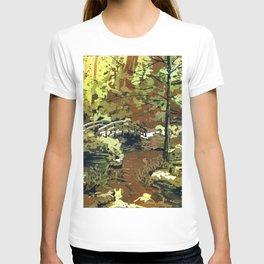 Japanese bridge at Sarah P. Duke Gardens- Durham, NC T-shirt