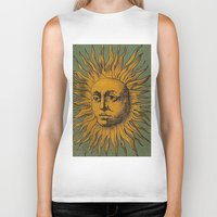 tarot Biker Tanks featuring Sun Tarot by phantastique