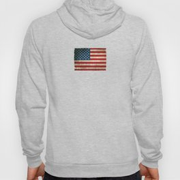 Old and Worn Distressed Vintage Flag of The United States Hoody