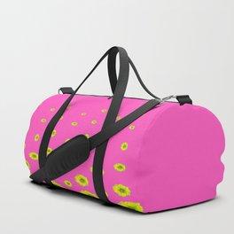 MODERN PINK & YELLOW FLOWERS  DESIGN ART Duffle Bag