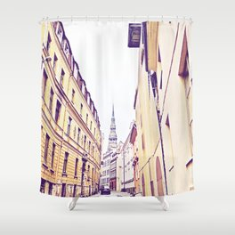 At the end Shower Curtain