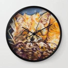 Cozy Fleece Fox Wall Clock