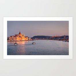 Budapest Parliament. Art Print