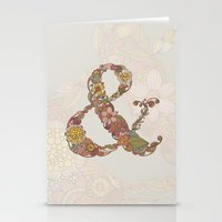 ampersand Stationery Cards featuring Ampersand by Valentina Harper